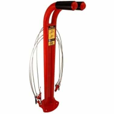 red standard bicycle bike repair station