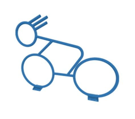 custom super speedy sidewalk bicycle bike rack