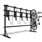 high density vertical free standing bicycle bike rack e21 single sided