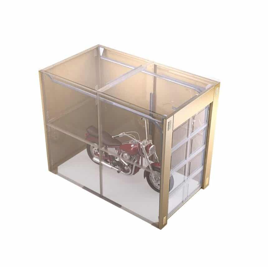 motorcycle storage locker DLMC transparent