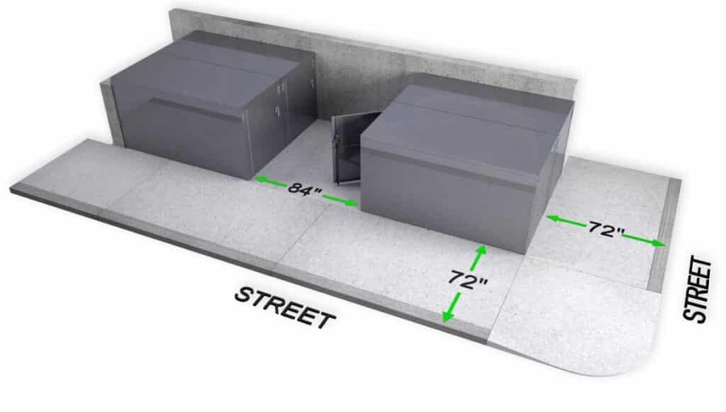 DLR Bike locker cycle storage sidewalk setback planning