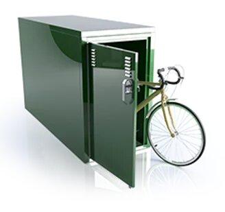 outdoor bike bicycle storage locker sidewalk DLSP space saver