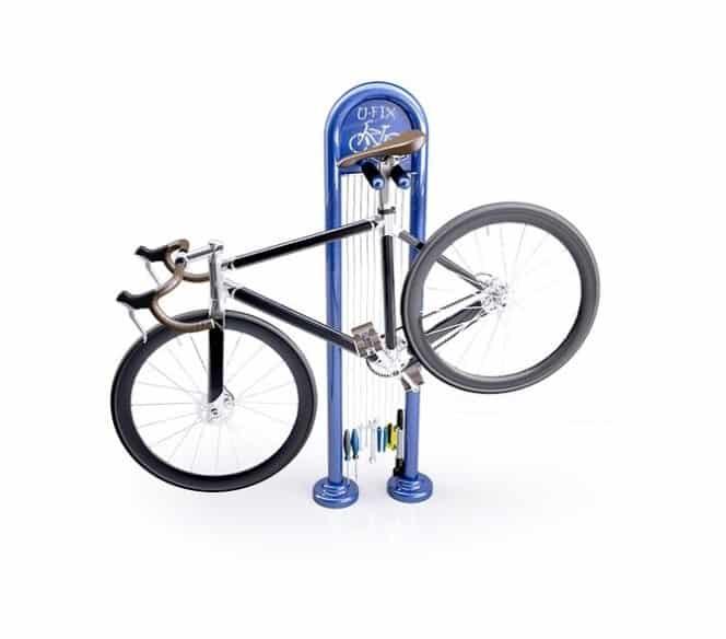 U-Fix outdoor sidewalk public bike bicycle repair station
